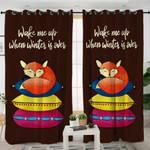 Sleeping Fox Themed Curtains