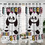 I Need More Stars Panda Curtains