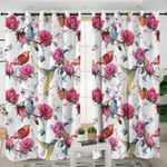Bird And Flower Curtains