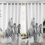 Galloping Horses B&W Curtains