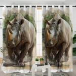 Rhino Themed Curtains
