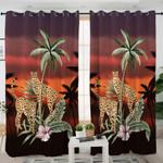 Palm Leaf Cheetah Curtains