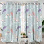 Magical Narwhal Curtains