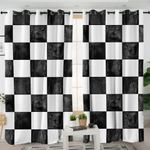 Chessboard Themed Curtains