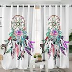 Tribal Feather Dream Catcher Curtains