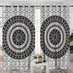 Black White Mandala Themed Curtains