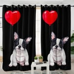 Bulldog & Heart Curtains