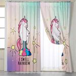 I Smell Rainbow Unicorn Curtains