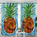 Stylized Patterned Pineapple Curtains