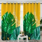 Tropical Paris Palm Curtains