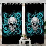 Octopus Skull Curtains
