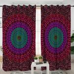 Purple Mandala Pattern Curtains