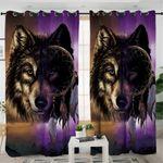 Tribal Wolf Dream Catcher Curtains
