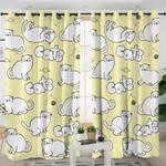 Cartoon Cats Blonde Curtains