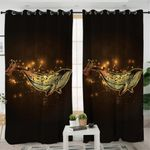 Gold Whale Curtains