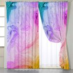 Abstract Sandy Colored Flow Curtains