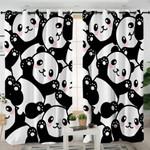 Cute Pandas Style Curtains