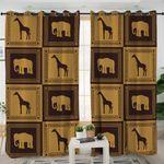 Giraffe & Elephant Boxes Curtains