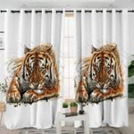 Color Spray Tiger Curtains