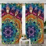 Stylized Mandala Themed Curtains