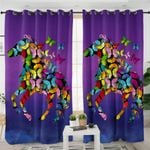 Butterfly Patterned Horse Curtains
