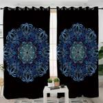 Blue Mandala Pattern Curtains