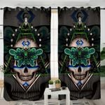 Stylized Skull & Butterfly Curtains