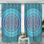 Blue Mandala Themed Curtains