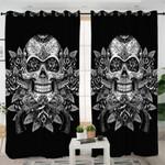 Black Sugar Skull Themed Curtains
