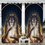 Nirvarna Lion Galaxy Curtains
