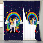Cosmic Unicorn Galaxy Curtains