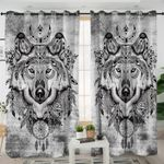 Tribal Wolf Curtains