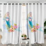 Mermaid White Curtains