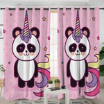 Magical Panda Pink Curtains