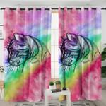 Smoky Rainbow Cat Curtains