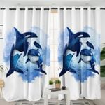 Galaxy Killer Whale Curtains