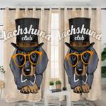 Dachshund Club Curtains