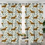 Cute Dachshund Themed Curtains