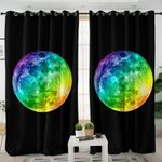 Colored Moon Curtains