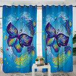 Impersonal Butterfly Blue Curtains