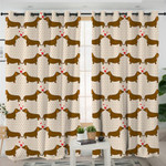 I Love Dachshund Themed Curtains