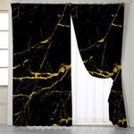 Black & Gold Tile Curtains