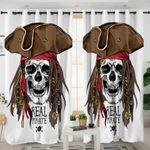 Pirate Skull Curtains