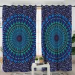 Blue Purple Mandala Curtains