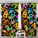 Cartoon Animal Alphabet Curtains