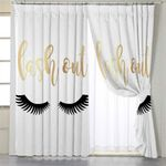 Lash Out White Curtains