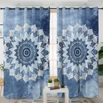 Blue Mandala Curtains
