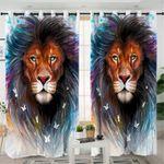Lone Lion Curtains