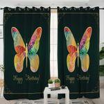 Birthday Butterfly Card Curtains
