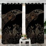 Gold Boho Dolphin Themed Curtains